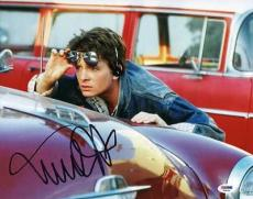Michael J Fox Back To The Future Signed 11X14 Photo PSA/DNA #V24056