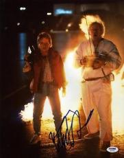 Michael J. Fox Back To The Future Signed 11x14 Photo Psa/dna #w46328