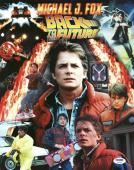 Michael J. Fox Back To The Future Signed 11X14 Photo PSA/DNA #Y92756