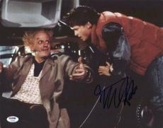 Michael J. Fox Back To The Future Signed 11X14 Photo PSA/DNA #Y99082
