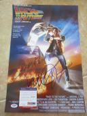 Michael J Fox Back To The Future Signed 12x18 Movie Poster Photo PSA Certified