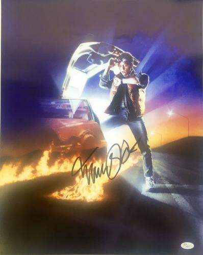 Michael J Fox Back To The Future Signed 16x20 Photo JSA H38012
