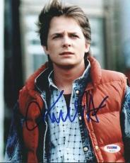 Michael J Fox Back To The Future Signed 8X10 Photo PSA/DNA #U92602