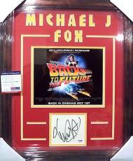 "Michael J Fox ""back To The Future"" Signed Auto Double Matted Framed Psa/dna Coa"