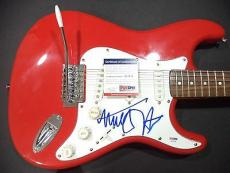 Michael J Fox Back To The Future Signed Autograph Red Fender Guitar Psa/dna Coa