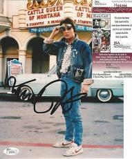 "Michael J Fox ""back To The Future"" Signed Autographed 8x10 Photo Jsa Coa Rare A"