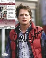 "Michael J Fox ""back To The Future"" Signed Autographed 8x10 Photo Jsa Coa Rare B"