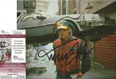 "Michael J Fox ""back To The Future"" Signed Autographed 8x10 Photo Jsa Coa Rare D"
