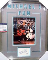 "Michael J Fox ""back To The Future"" Signed Double Matted & Framed Psa/dna Coa A"