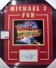 "Michael J Fox ""back To The Future"" Signed Double Matted & Framed Psa/dna Coa C"