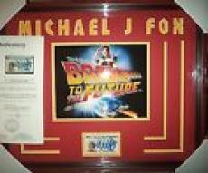 "Michael J Fox ""back To The Future"" Signed Driver's License Matted Framed Jsa Loa"