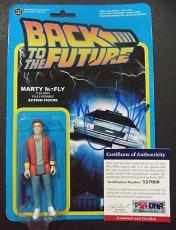 "MICHAEL J FOX ""BACK TO THE FUTURE"" SIGNED MARTY McFLY FIGURE ""NIB"" PSA/DNA COA"