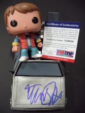 "Michael J Fox ""back To The Future "" Signed Marty Mcfly ""pop"" Car Psa/dna Coa"