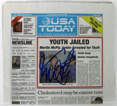 Michael J. Fox Back To The Future Signed USA Today Newspaper PSA/DNA #AB40844