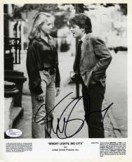 Michael J Fox Bright Lights Big City Autographed Signed 8x10 Photo Certified JSA