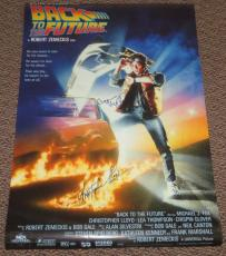 Michael J Fox Christopher Lloyd Autograph Signed Back To The Future Poster Proof