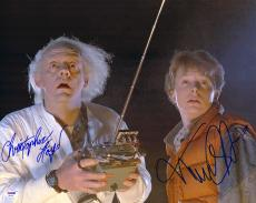 "Michael J. Fox & Christopher Lloyd Autographed 16"" x 20"" Back to the Future Photograph 1- PSA/DNA COA"