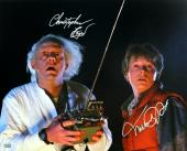 Michael J Fox & Christopher Lloyd Autographed Back to the Future 16x20 Photo