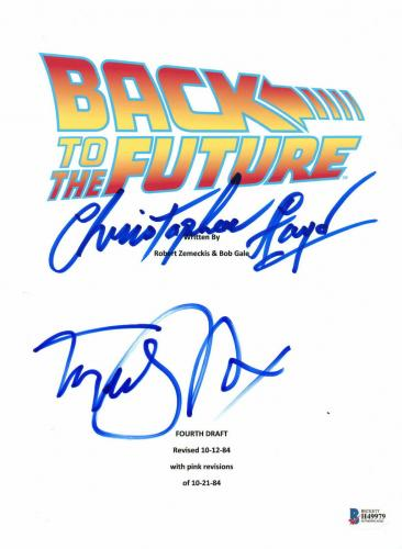 Michael J Fox Christopher Lloyd Autographed Back To The Future Script Beckett
