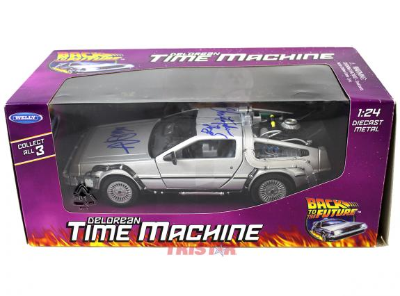 Michael J Fox & Christopher Lloyd Back To The Future 1:24 Diecast Delorean Time Machine