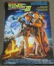 Michael J Fox Christopher Lloyd Back To The Future 3 Signed Movie Poster 27x40