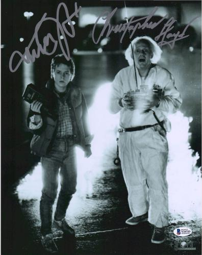 """Michael J. Fox & Christopher Lloyd Back to The Future Autographed 11"""" x 14"""" Photograph"""