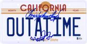 Michael J. Fox & Christopher Lloyd Back to the Future Autographed License Plate - BAS