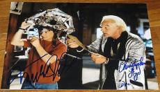 MICHAEL J FOX CHRISTOPHER LLOYD BACK TO THE FUTURE SIGNED 11x14 PHOTO PROOF F