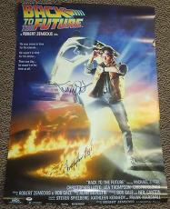 Michael J Fox Christopher Lloyd Back To The Future Signed 27x40 Movie Poster Psa