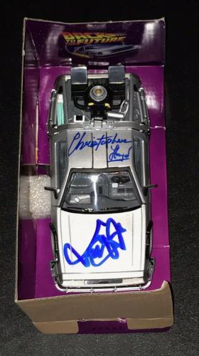 Michael J Fox Christopher Lloyd Back To The Future Signed Delorean Car Psa/dna