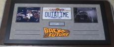 Michael J Fox Christopher Lloyd Back To The Future Signed License Plate Psa/dna