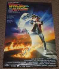 Michael J Fox Christopher Lloyd Back To The Future Signed Movie Poster 27x40 Psa