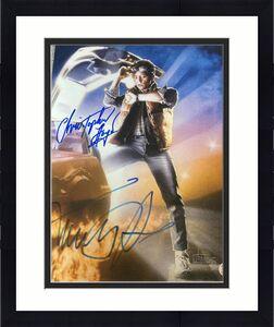 "MICHAEL J FOX & CHRISTOPHER LLOYD DUAL ""BACK TO THE FUTURE"" SIGNED 11x14 PHOTO F"