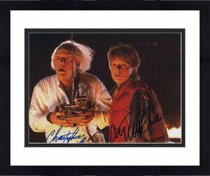 MICHAEL J FOX & CHRISTOPHER LLOYD DUAL SIGNED AUTOGRAPH 11x14 PHOTO A - BECKETT
