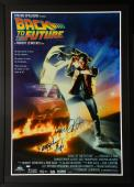 """Michael J. Fox & Christopher Lloyd Framed Autographed 33"""" x 46"""" Back To The Future Movie Poster - PSA/DNA COA"""