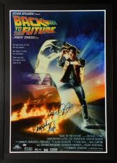 "Michael J. Fox & Christopher Lloyd Framed Autographed 33"" x 46"" Back To The Future Movie Poster - PSA/DNA COA"