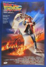 Michael J Fox Christopher Lloyd Signed Autograph 12x18 Photo PSA/DNA U04968