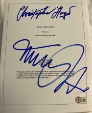 Michael J Fox Christopher Lloyd Signed Autograph Back To The Future Movie Script