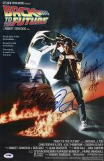 Michael J Fox Christopher Lloyd Signed Back To The Future 11x17 Poster Psa 45669