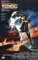 Michael J Fox Christopher Lloyd Signed Back To The Future 11x17 Poster Psa 45670