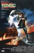 Michael J Fox Christopher Lloyd Signed Back To The Future 11x17 Poster Psa 45672