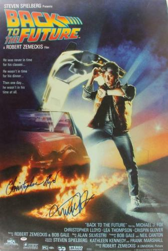 Michael J Fox Christopher Lloyd Signed Back To The Future 27x40 Poster Psa Loa