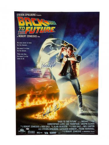 Michael J Fox Christopher Lloyd Signed Back To The Future  27x40 Poster Psa Loa