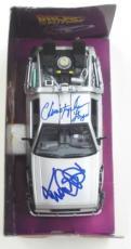 Michael J Fox Christopher Lloyd Signed Back To The Future Delorean 1:24 Psa
