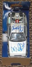 Michael J Fox Christopher Lloyd Signed Back To The Future Delorean 1:24 Psa Dna
