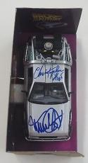 Michael J Fox Christopher Lloyd Signed Back To The Future Delorean 1:24 Psa Dna