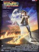 """Michael J. Fox Christopher Lloyd Signed """"back To The Future"""" Full Poster Psa/dna"""