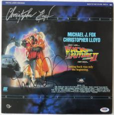 Michael J. Fox & Christopher Lloyd Signed Back to the Future Laser Disc PSA/DNA