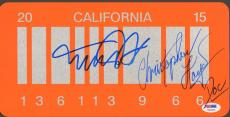 MICHAEL J FOX, CHRISTOPHER LLOYD Signed Back To The Future LICENSE PLATE PSA/DNA