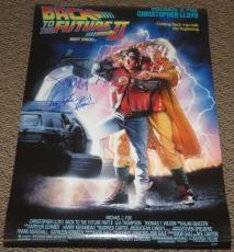 Michael J Fox Christopher Lloyd Signed Back To The Future Part 2 Poster Proof
